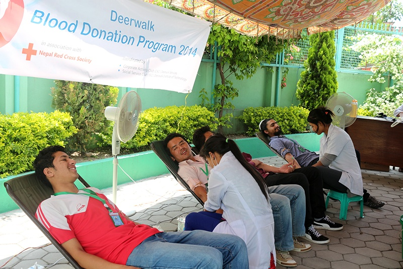 Deerwalk Blood Donation Program 2014
