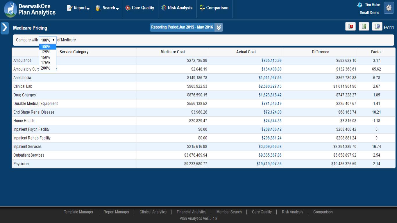 Medicare Reference Pricing Screenshot
