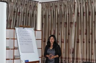 10. Ekta shares her group's views