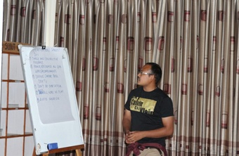 11. Sanket shares his group's points