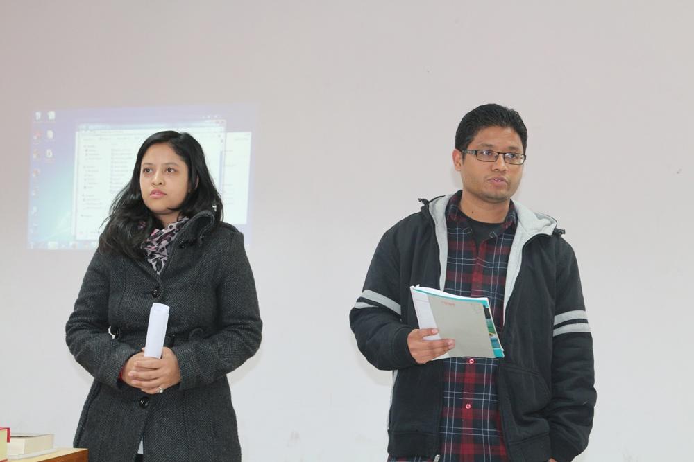 Deertalk Coordinators Ekta Shrestha & Rinesh Bajracharya