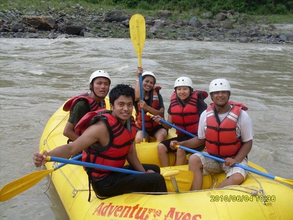 Rafting at Trishuli